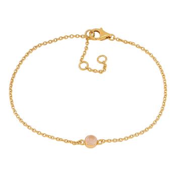 Nordahl - Sweets rosen quartz 4,5mm armband guld