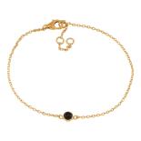 Nordahl - Sweets svart onyx 4,5mm armband guld