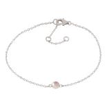 Nordahl - Sweets rosen quartz 4,5mm armband silver