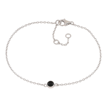 Nordahl - Sweets svart onyx 4,5mm armband silver
