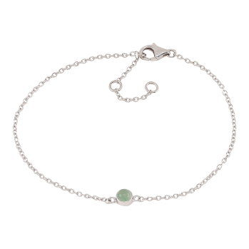 Nordahl - Sweets grön aventurine 4,5mm armband silver