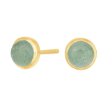 Nordahl - Sweets grön aventurine 7mm örhänge guld