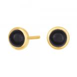 Nordahl - Sweets svart onyx 7mm örhänge guld