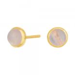 Nordahl - Sweets rosen quartz 7mm örhänge guld