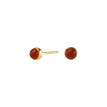 Nordahl - Sweets röd onyx 4,5mm örhänge guld