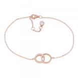 Joanli Nor - Anna cirkel m cz armband rosé