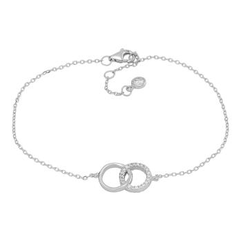 Joanli Nor - Anna cirkel m cz armband silver