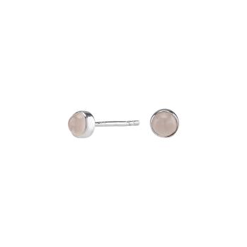 Nordahl - Sweets rosen quartz 4,5mm örhänge silver
