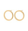 Circle Earrings Small - Circle Earring Small Gold