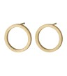 Circle Earrings Small - Circle Earrings Small Matt Gold