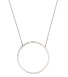 Circle Necklace Steel
