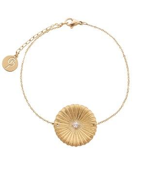 Crinkle Bracelet Matt Gold -