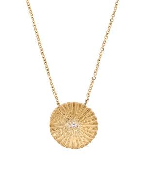 Crinkle Necklace Matt Gold -