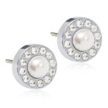 Blomdahl - BRILLIANCE HALO PEARL, 8 MM WHITE