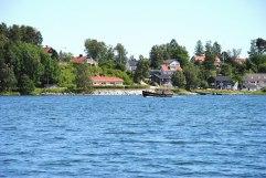 Ön Oaxen i sommarsol