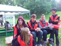 Våra ungdomar som hjälpte till som funktionärer Frida, Emma,Wille, Axel och Gilai
