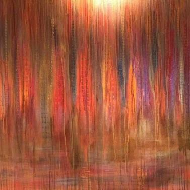 B- City of love -18, akryl 120x100