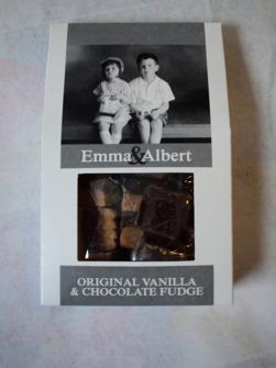 Fudge från Malmö Chokladfabrik pris 45 kr.