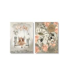 2 pack A6 Grattiskort Roses -