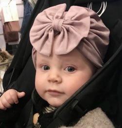 Lieveling Rosett Turban Lila - 1-4 år