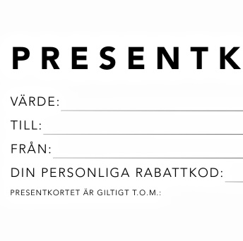 Presentkort - Presentkort 250 KR
