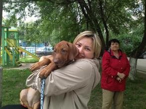 första träff med Lisi i Ryssland
