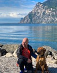 Ralf at Garda lake almost 10 months old