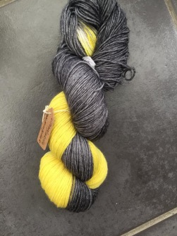 CITRON/LAKRITS sockgarn - CITRON/LAKRITS