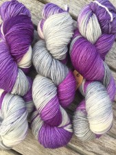 PURPLE GREY, sockgarn