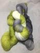 GARNLYCKAS 17dagarssjal - 17dagarssjal lime/grå/vit