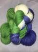 GARNLYCKAS 17dagarssjal - 17dagarssjal blå/vit/grön