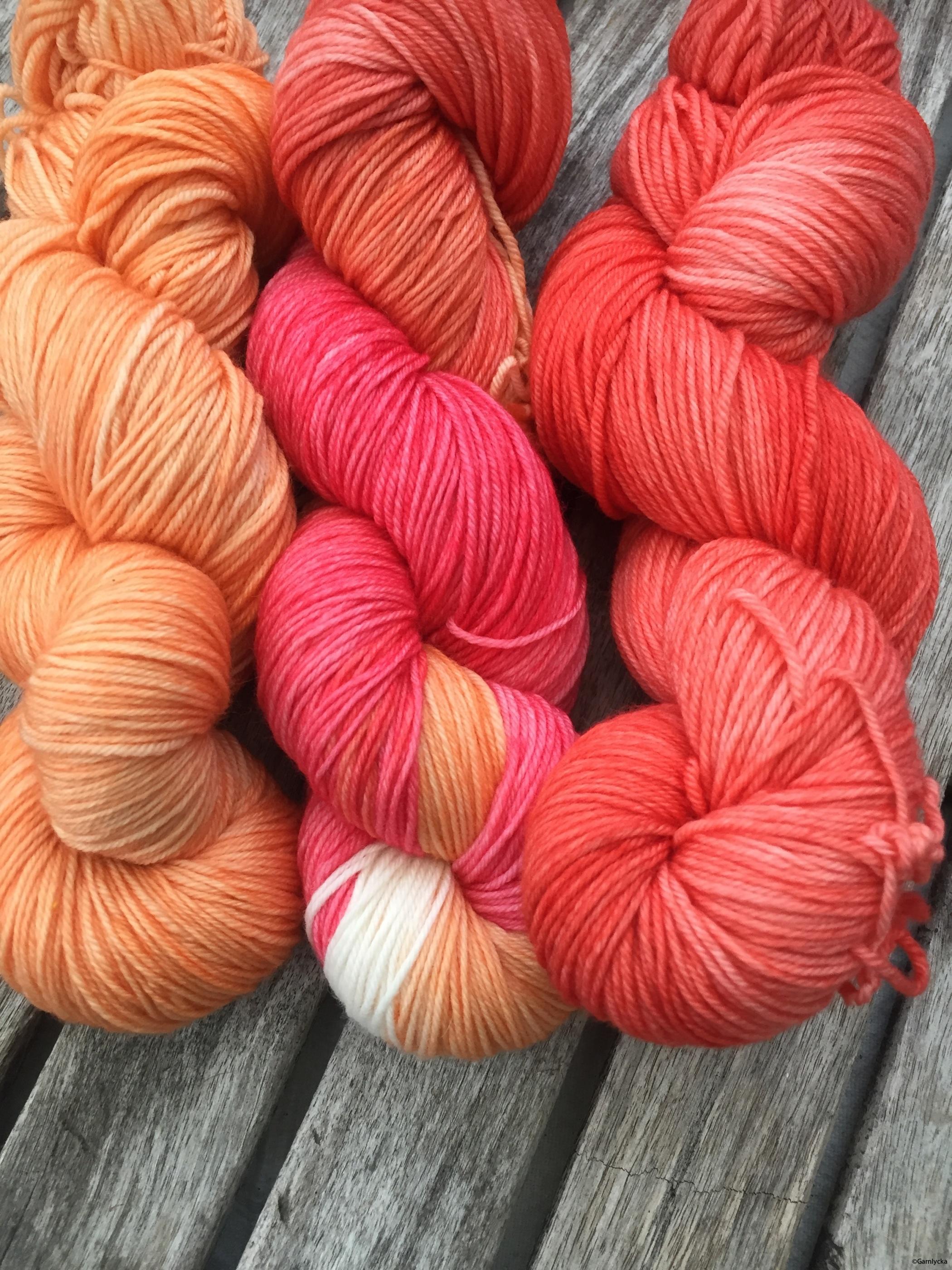 Orange/vit/vallmo