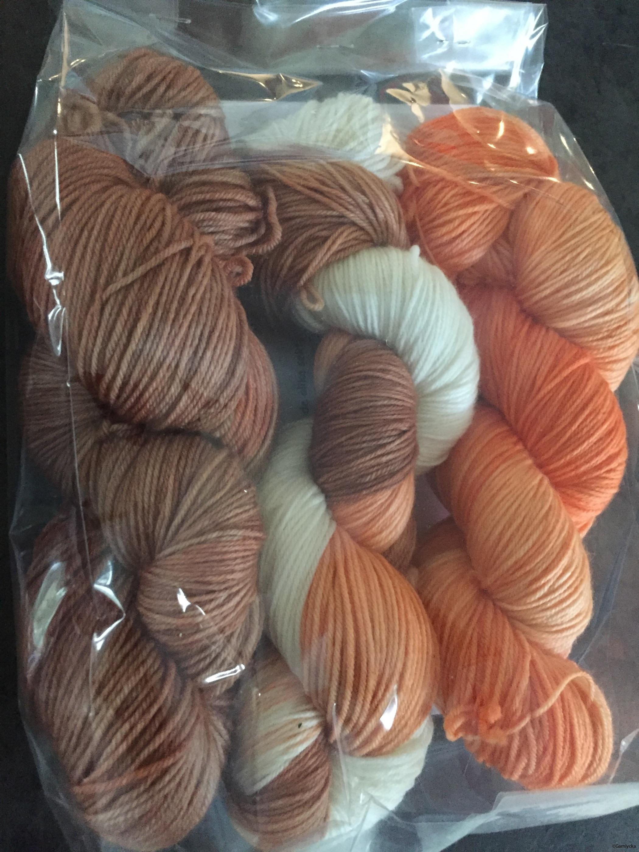 Brun/vit/orange