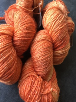 STARDUST ORANGE, sockgarn - stardust  orange