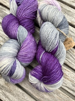 PURPLE GREY, SOCKGARN - PURPLE GREY SOCK