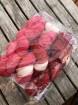 GARNLYCKAS 17dagarssjal - 17dagarssjal röd/vit/rosa