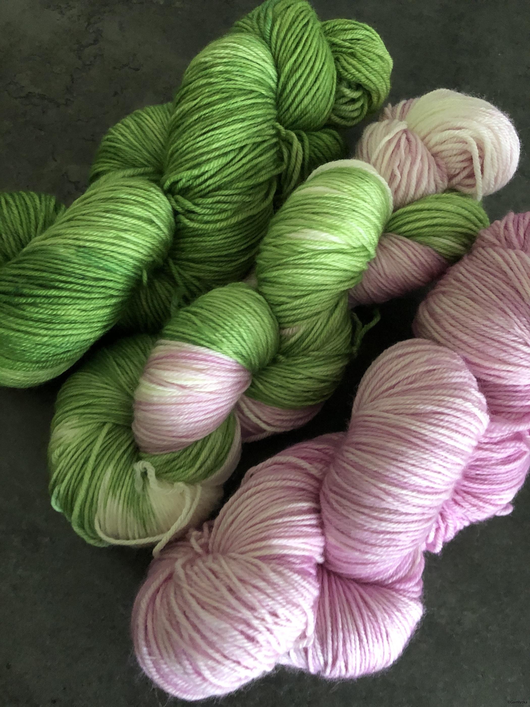 skarpgrön/vit/rosa