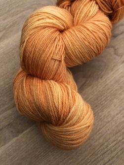 Orange sockgarn - orange sock