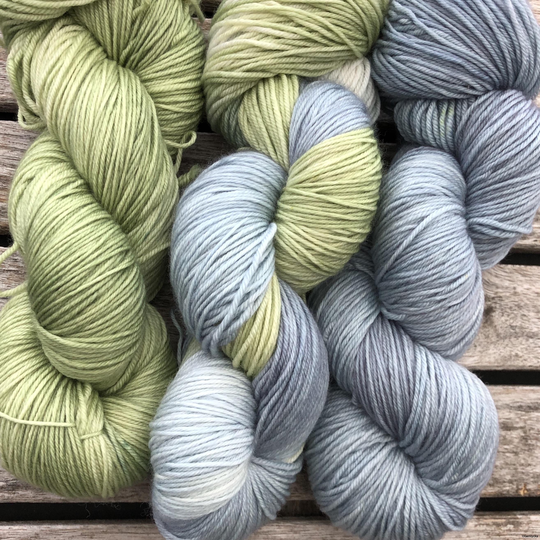 Grön/gråblå