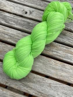 Neongrön, sockgarn - neongrön, sock
