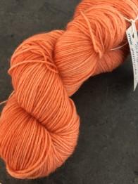 Mörk orange sockgarn - mörk orange sock