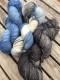 GARNLYCKAS 17dagarssjal - 17dagarssjal blå/vit/svart