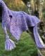 LILLY BLUE new merino - Mönster vårsjal