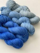 Merino fade blue
