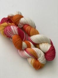 Peach melba sockgarn - Peach melba sock