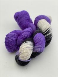 PURPLE BLACK merino - purple black merino