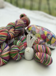 EASTER BUNNY sockgarn - easter bunny sock