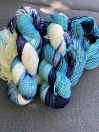 Aquamarine sockgarn - Aquamarine sock