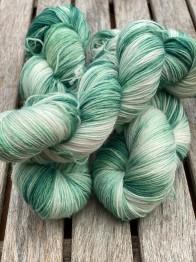 Grön Anna. Sockgarn - Grön Anna sock