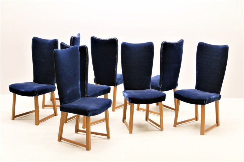 Set of 8 AE Hjorth chairs - AE Hjorth x 8